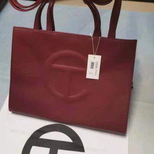 Telfar Medium Red Shopping Bag
